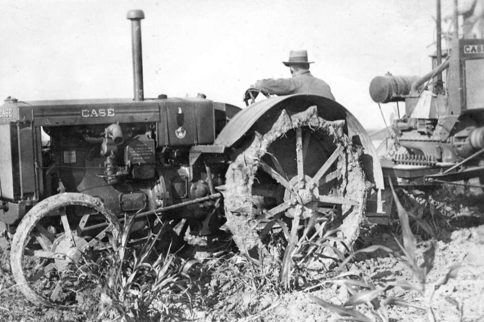 Tractor #1: A J.I. Case model L tractor in use on Parchman Farm in the 1930s.