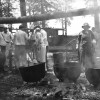 Parchman #52: Staff render lard after a hog-kill at Parchman Farm in the 1930s.