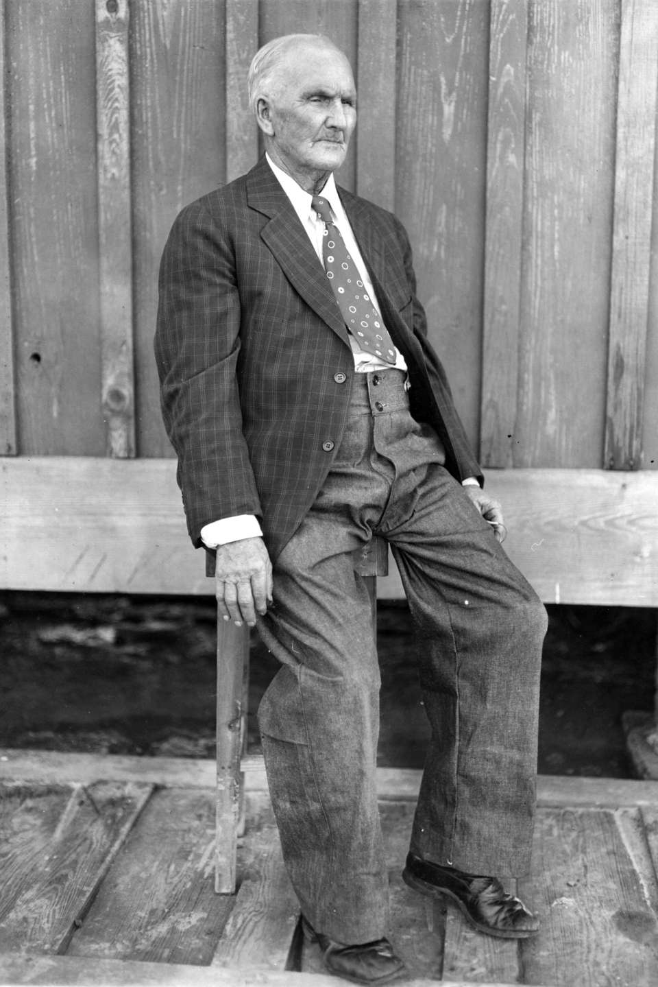 "Tabor #1: Parchman legend A. J. ""Pap"" Tabor poses for a photo circa 1930."